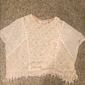 Women's beach lace coverup